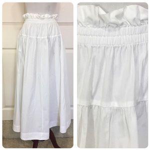 Free People white chic boho maxi skirt. Like new